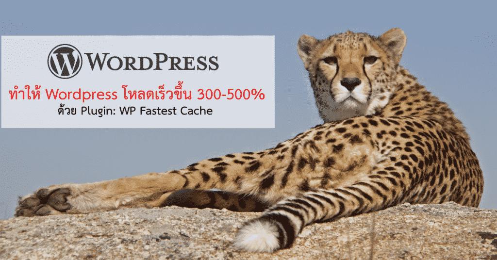 วิธีทำให้เว็บไซด์ (WordPress) โหลดเร็วขึ้น 300-500%